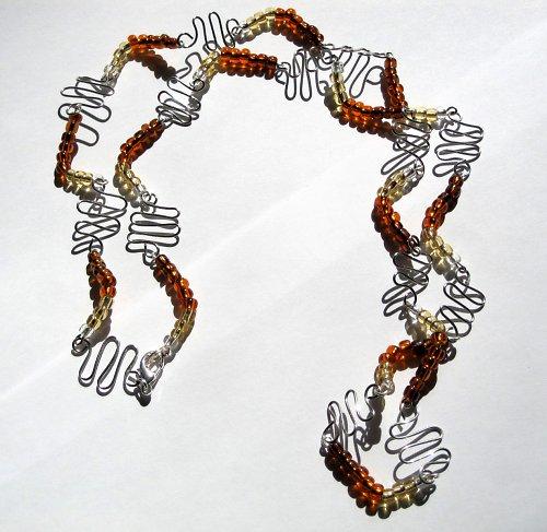 Cik-cak náhrdelník - SLEVA, původní cena 65 Kč