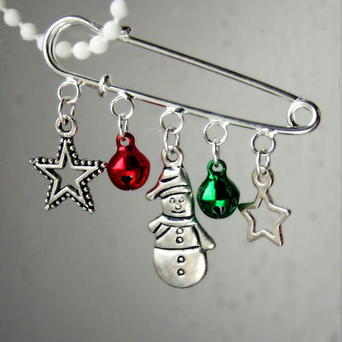 Vánoční/zimní brož