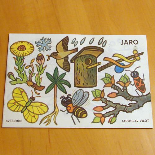 Jaro - retro omalovánky