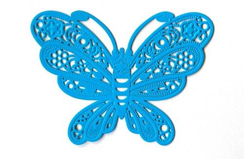 Motýl modrý 38x50mm