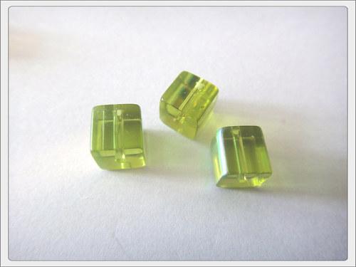 Skleněné kostky, zelené