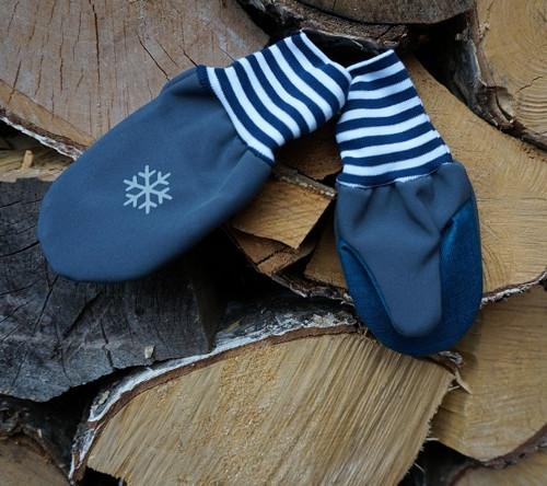 Softshellové rukavice s palečkem