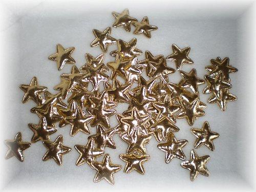 Vánoční hvězda - dekorace - zlatá - 6ks