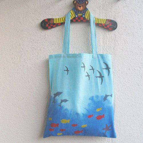 """Plátěná taška \""""Moře\"""" II."""