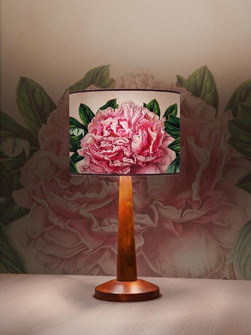 Stínítko na lampu Pivoňka - stolní/stropní