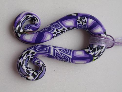 Fialový kaleidoskop náhrdelník