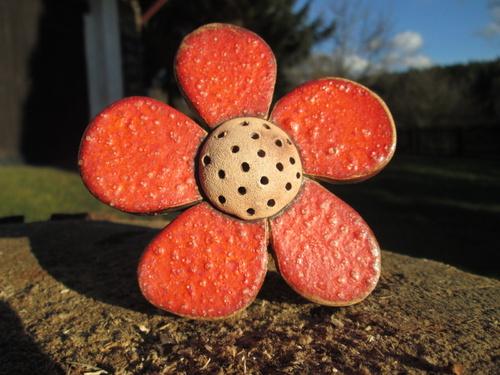 Keramický zápich - květina