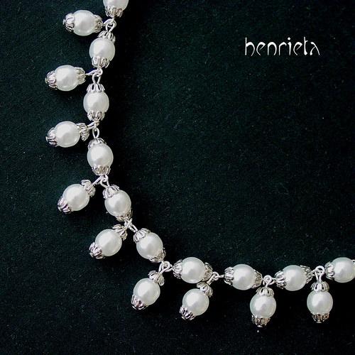 Viola - perlový náhrdelník