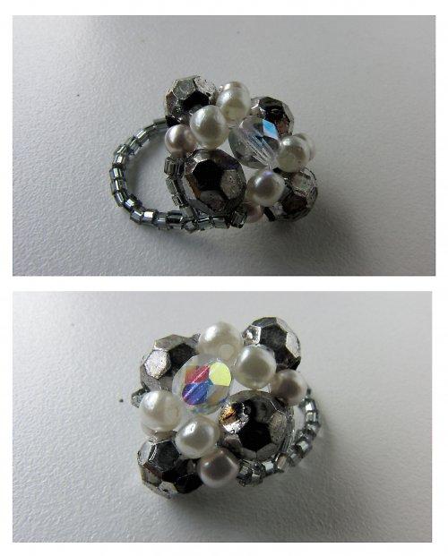 prsten GRAFITOPERLA