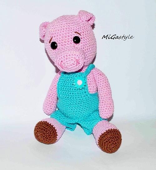Háčkovaná hračka - prasátko Piggy