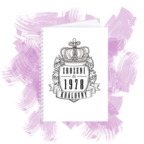 Zápisník s motivem - zrození královny 5