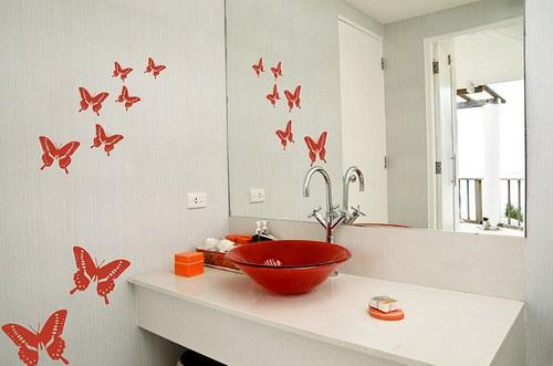 Nálepka na stenu 046n Motýle