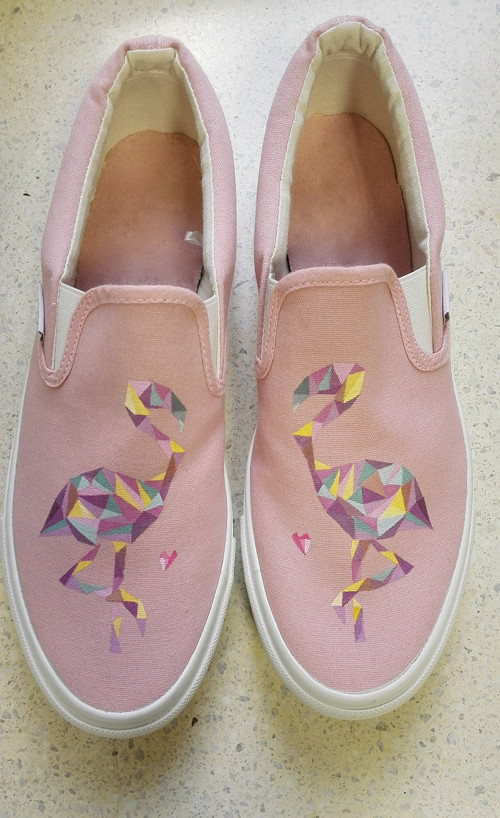 Růžové slip-on :)