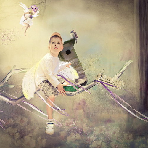 Scrap z vaší fotky (kit Let the Fairies Dance)