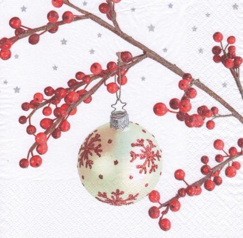 Ubrousek - vánoční ozdoba na větvičce