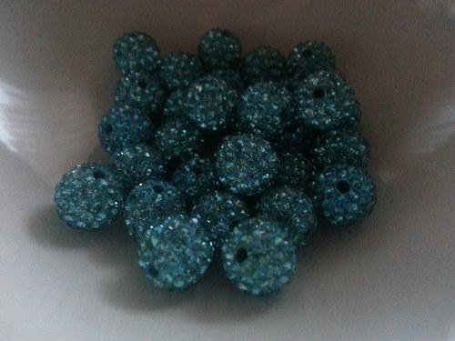 Nádherné shamballa korálky Modrá