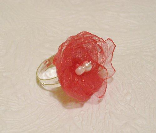 Malinový - tmavěrůžový prstýnek