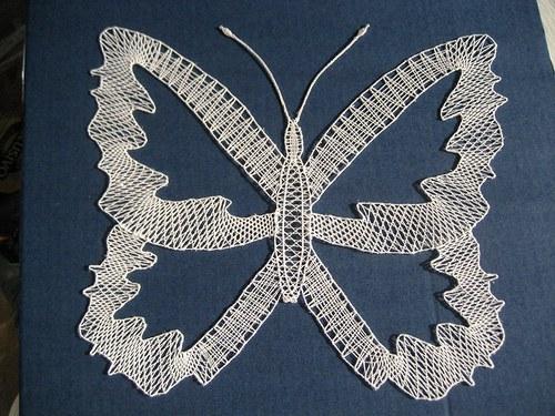 Motýl -paličkovaný