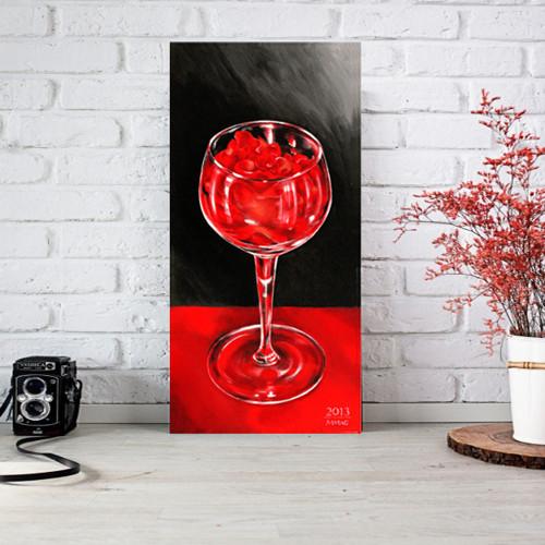 Červená růže - autorská reprodukce (3velikosti)