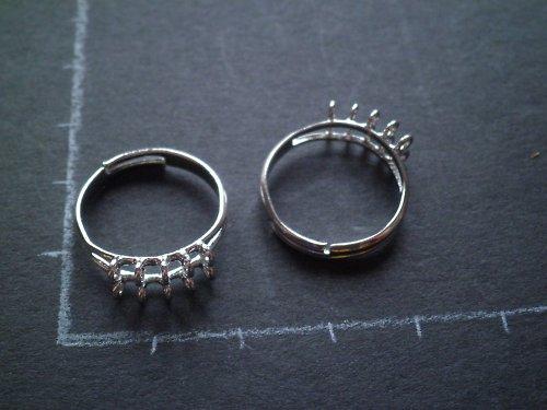 Komponent na korálkový prsten SLEVA z 22 na 15Kč