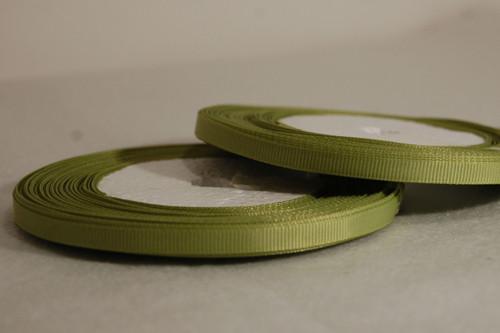 Rypsová stuha 7 mm olivová