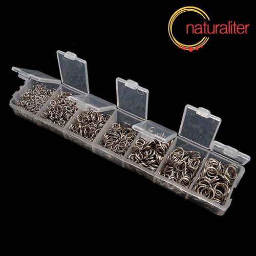 Krabička spojovacích kroužků platinová bar. 1500ks