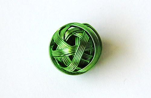 Kulička z drátu 18 mm - zelená