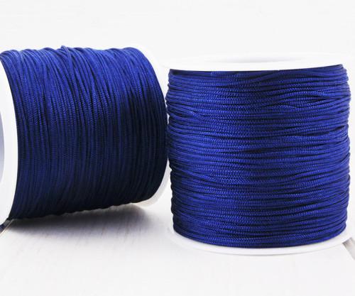 20m 65 22yrd Tmavě Modré Nylon Kabel Makramé Vlákn