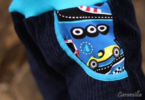 Manžestrové kalhoty ELEGANCE tm. modré FORMULE