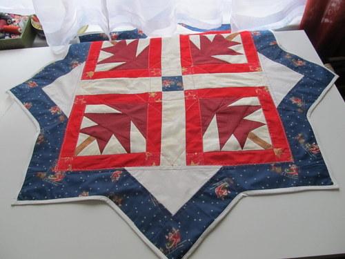 Vánoční hvězda patchworková - 3 velká
