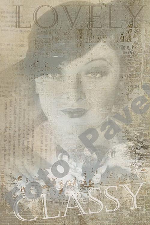 Vintage motiv - portrét dámy - třicátá léta