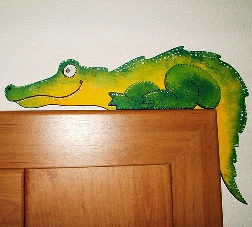 Krokodýl na dveře