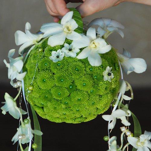 Extravagantní svatební kytice