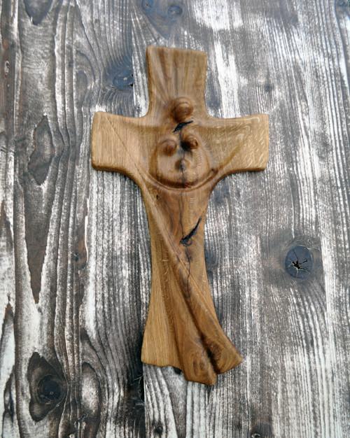 """Dřevěný křížek \""""rodina\"""""""