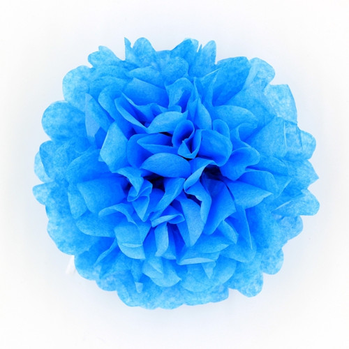 Modrý pompom 22cm (M)