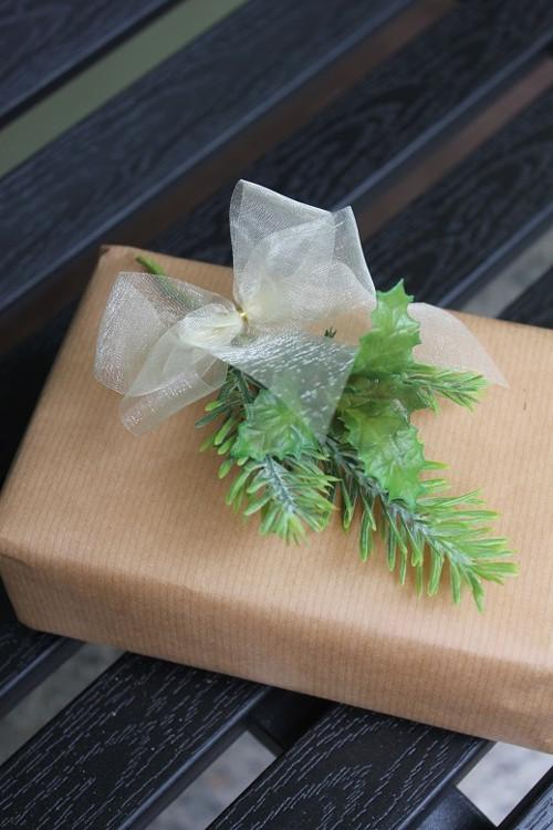 Mašle na zdobení dárků - průsvitná