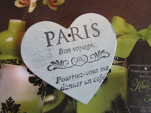 Srdíčko PARIS k zavěšení