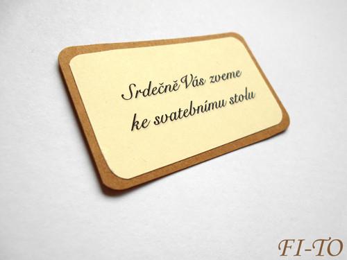 Rustic kartička - pozvání ke stolu