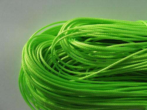 Nylonové lanko, křiklavě zelené 1 mm