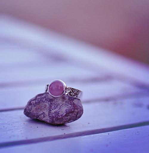 Láska&meditace - silné lůžko, AG prsten + Růženín