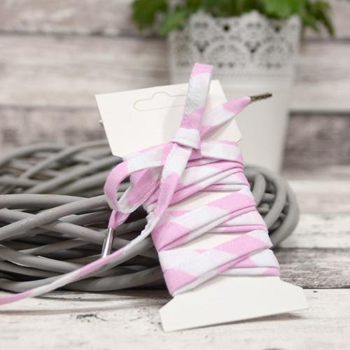 Tkaničky do bot CHEVRON světle růžové