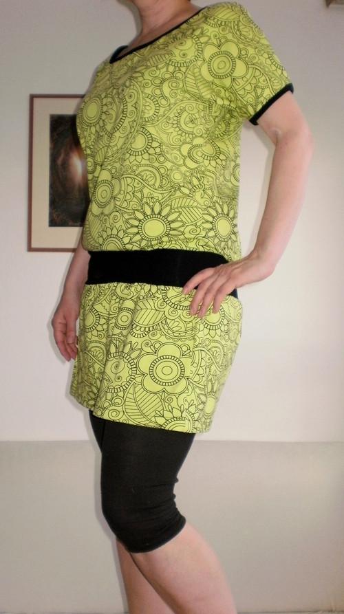 Tričko/šaty omalovánky zelené
