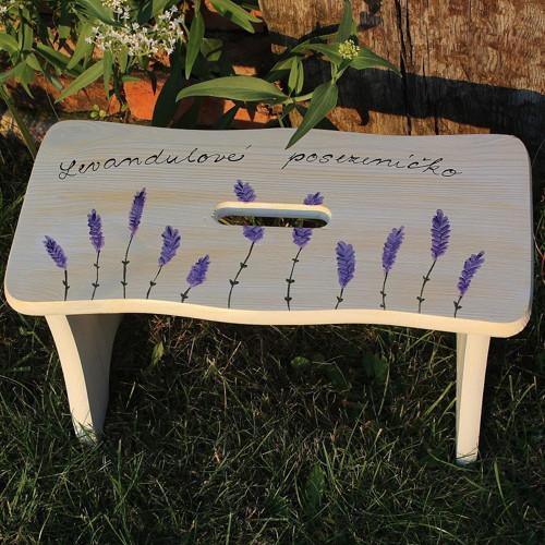Dřevěná stolička LEVANDULKA