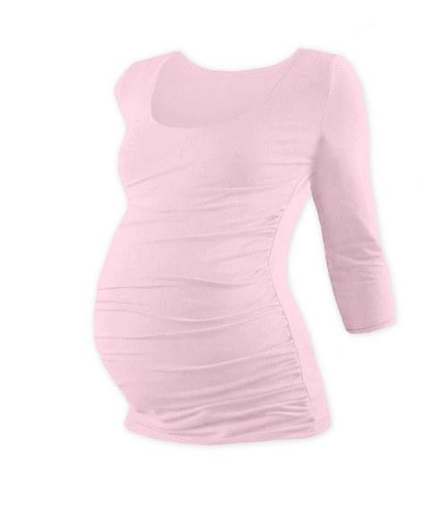 Těhotenské tričko 3/4 rukáv světle růžové