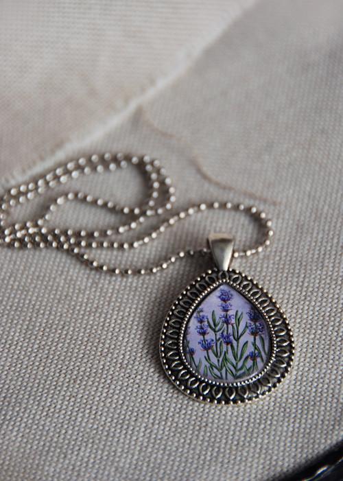 Levandule - náhrdelník