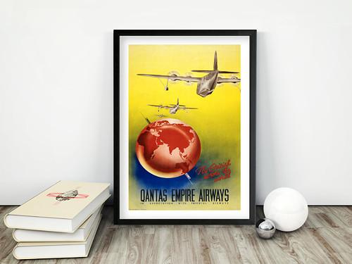 Vintage plakát Quantas Airways
