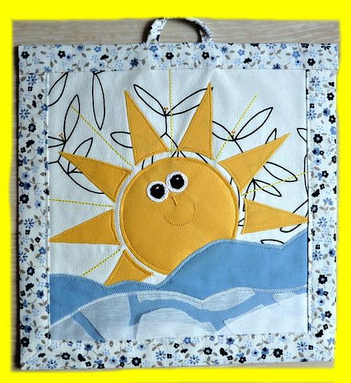 Ručně šitý plastický obrázek -sluníčko! krááásnééé