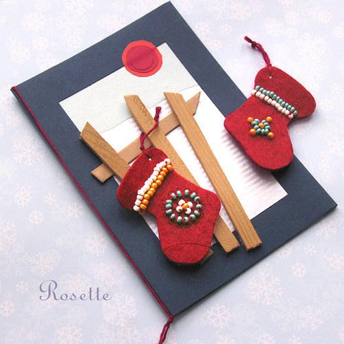 Červená punčoška -  multifunkční přání