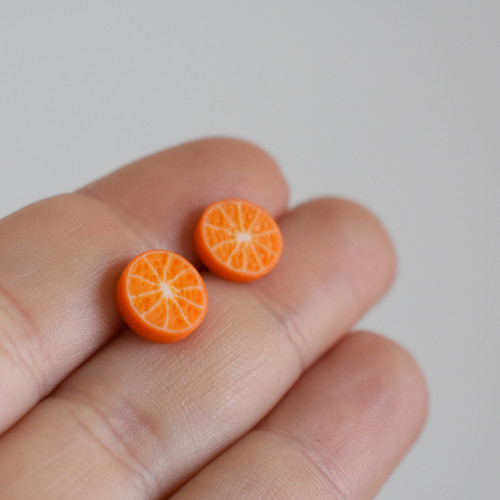 Pomeranč Náušnice - Chirurgická ocel