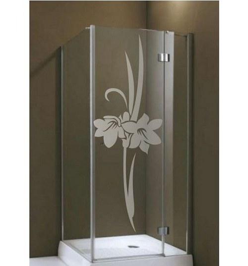 (081g) Nálepka na sprchovací kút - Ľalie